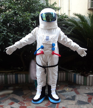 2017 Hot Sale ! High Quality Space suit mascot costume Astronaut mascot costume with Backpack with LOGO glove,shoesFree Shipping(China)