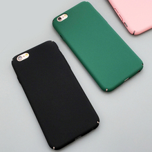 Fashion Luxury Ultra Slim Case For iphone 5S Case For iphone 5 6 6S Plus Colorful Frosted Hard Scrub Back Cover Phone Cases Capa(China)
