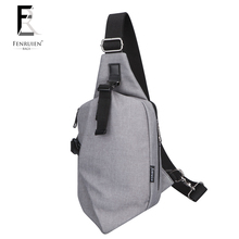 Fenruien Casual Hip Pack Male Canvas Irregular Sling Bag Men Brand Fashion Personality Designer Chest Bag Cool Messenger Bags
