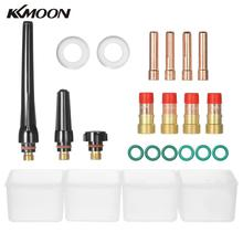 23pcs/set TIG Welding Torch Kit Collet Gas Lens Glass Cup Kit for TIG WP-17/18/26 Series Welding Torch Accessories(China)