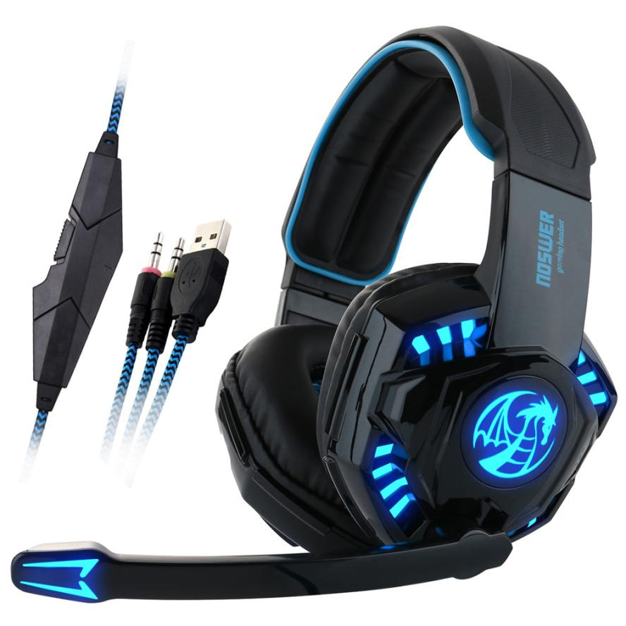 HL   Noswer Professional Gaming Headset LED Light Earphone Headphone with Microphone   AUG 23<br><br>Aliexpress