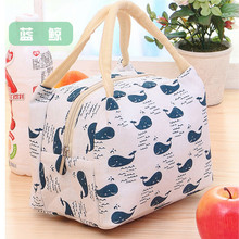2017 Hot Variety Pattern Lunch Bag Portable Insulated Canvas Iunch Bag Thermal Food Picnic Lunch Bags For Women Kids PA890300(China)