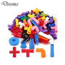 72Pcs/Set Pipeline Tunnel Construction Building Blocks Toy Kids DIY Creative 3D Pipe Building Model Interlocking Set Kids Gift(China)