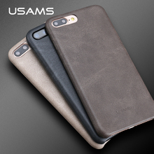 USAMS for IPhone 7 Case PU Leather Vintage Slim Back Cover for iPhone 7 Plus Coque Capa Original Bob Series 4.7 inch & 5.5 inch