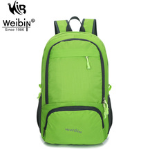 Weibin Summer Men Women Folding Backpacks Waterproof Large Capacity Lightweight Nylon Travel Bags Portable Riding Pack Machila