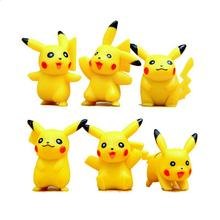 Hot Sale Mini Pikachu Figures 6Pcs/lot 4cm PVC Action Figure Toys Cartoon Model Figurine Free Shipping