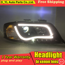 D_YL Car Styling for Audi A6 Headlights 1997-2004 A6 LED Headlight DRL Bi Xenon Lens High Low Beam Parking HID Fog Lamp