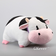 "NEW Arrival Harvest Moon Black and White Cow with Pink Mouth Plush Cushion Pillow Soft Stuffed Animals Toy Dolls 14"" 35 cm"