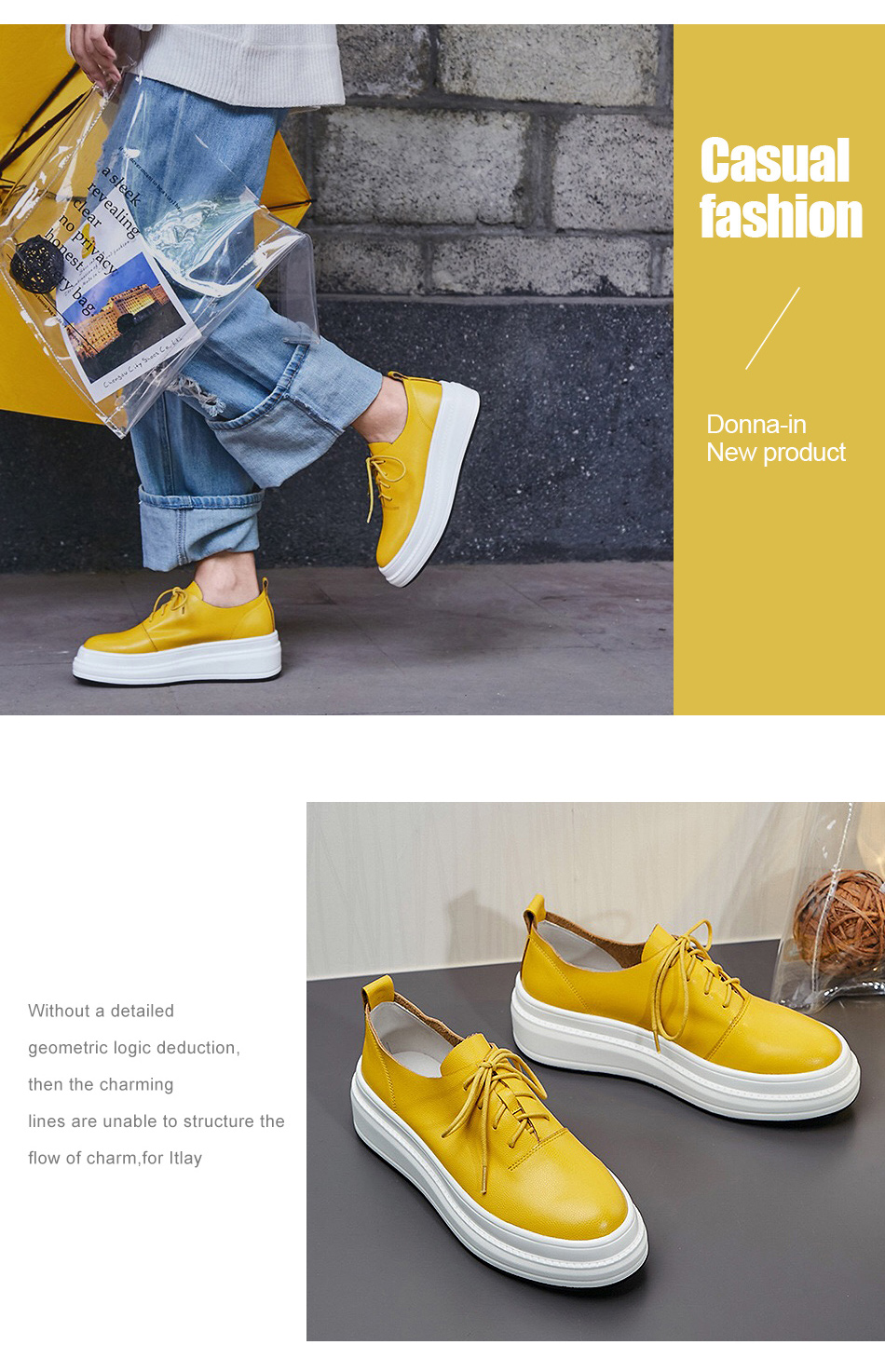Donna-in Women Flats Shoes Platform Sneakers Shoes Genuine Leather Spring Fashion Sneakers Creepers Lace-up Comfortable Shoes (7)