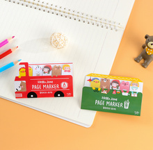 Kawaii Kids & Animals Bus sticky notes Memo Pad Paper Sticker Post It Notepad Gift Stationery Escolar Papelaria promotion