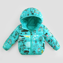 Child Jacket Girl Spring Jackets 2017 Winter Jacket For Boys Hooded Down Jacket Kids Thicken cotton-padded Warm Coat