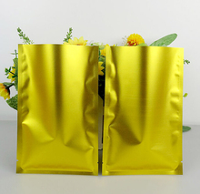 14x20cm recyclable packing bag heat sealing open top aluminum foil Vacuum Package Pouch silver/gold flat Mylar bag 100pcs/lot(China)