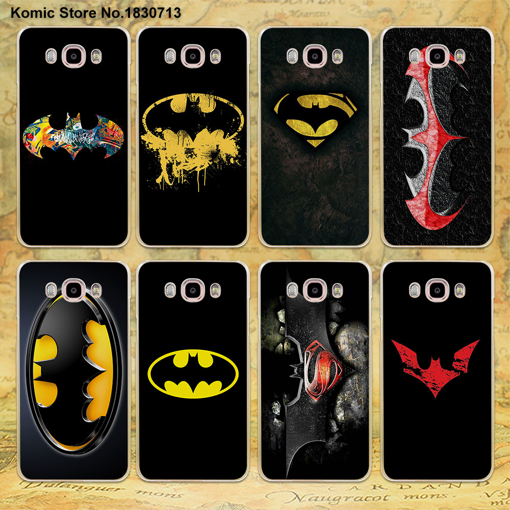Pu leather case for samsung galaxy a7 2016 a710 peacock feather - Cool Batman Logo Design Clear Transparent Hard Case For Samsung Galaxy J7 2016 J5 2017 J3 J2 J1 2016
