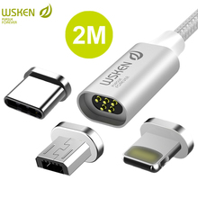 WSKEN lite 2 USB Type C Micro USB Cable Fast Charging Data Magnetic Cable iPhone Charger Cable USB C Type C USB-C Cable