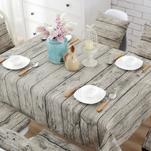 Retro Decorative Wood Grain Tablecloth Cotton Linen Square Rectangle Table Cloth Table Cover for Picnic Party Wedding Home(China)
