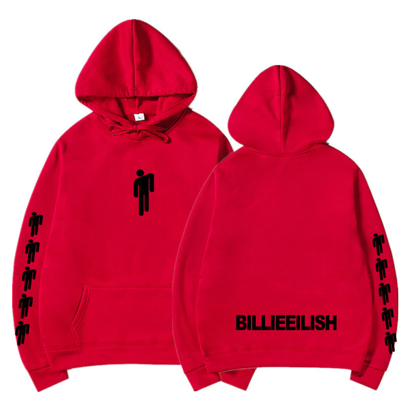 New Hot Billie Eilish Hoodie Men Black Cotton Hoodie Couple Billie Eilish Sweatshirt Simple Keep Warm Women/men Hoodie Clothes 16