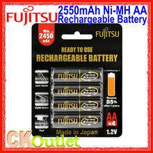 FUJITSU 2550 2550mAh AA High Capacity Pre-charged Rechargeable Battery MADE IN JAPAN 4 Pcs/Pack with Free Gift