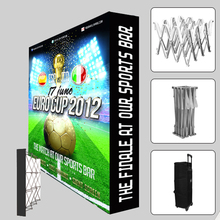 10ft straight Trade show Display Velcro Fabric Pop Up Stands booth banner backdrop wall with custom graphic print