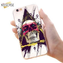 KISSCASE Phone Case For iPhone 7 6 6s Plus Back Cover Skull Marcelo Octopus TPU Phone Fundas Case Soft TPU Cartoon Cover Shells(China)