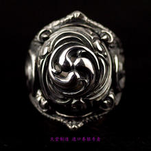 Imported from Thailand, Japan 925 silver cyclone pattern silver ring opening home(China)
