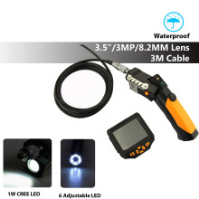 "DBPOWER USB Endoscope Camera 3.5"" LCD Inspection Camera 8.2mm 3M Cable Flexible Industrial Video Borescope Snake Camera"