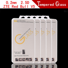 5PCS Ultra-thin Anti-Explosion Tempered Glass For ZTE Red Bull V5 Phone LCD Screen Protective Film + retail packaging(China)