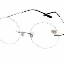 b67c7738ed33 DeDing Lightweight man woman presbyopic Metal Round Rimless reading glasses