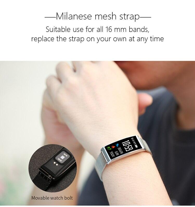 Microwear X3 IP68 Waterproof smart fitness bracelet pedometer blood pressure smart wristband Android iOS fitness tracker 17