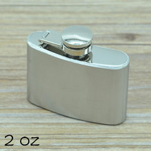 2 oz(55ml) Stainless Steel Hip Flask for Men Portable Lighter Mini Alcohol Bottle Outdoor Drinkware CT327