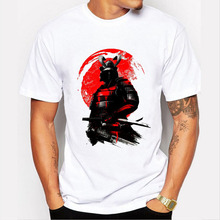 2016 Fashion Samurai Warrior T Shirt Men Short Sleeve Original Customize Tee Shirts Man/Boy T-shirt Summer O-neck Tops Camisetas
