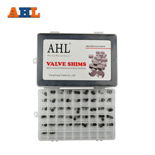 AHL 141pcs Motorcycle Engine Parts Adjustable Valve Shim 7.48mm Complete Refill Kit For Honda Suzuki Yamaha Kawasaki ER6N(China)