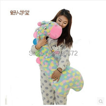 large 100cm coloured giraffe plush toy throw pillow sleeping pillow quality goods birthday gift t6596