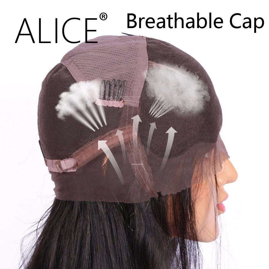 ALICE Pre Plucked Glueless Brazilian Full Lace Human Hair Wigs For Black Women With Baby Hair Remy Hair Kinky Curly Lace Wig