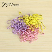 KiWarm Colorful 100pcs Mixed Colors Copper Knitting Crochet Locking Stitch Markers Latch Knitting Tools Needle Clip Crafts