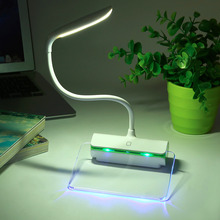 USB Rechargeable LED Desk Lamp Touch Night Light Table Lamp Fluorescent Message Board 3-Mode Brightness Eye Care Lamp(China)
