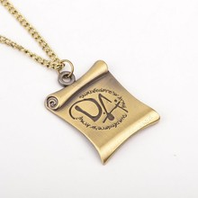 New Wholesale Movie Necklace bronze color Letter DA Reel Film Pendant Necklaces for men women fans(China)