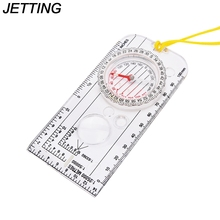JETTING 1 x Compass Magnifying Map Reading Orienteering Tools Army Scout Hiking Camping Boating Map Reading Orienteering Ruler