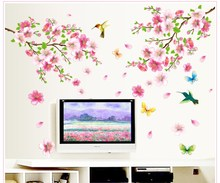 Flower Bird Poster Nature Plant Sticker Butterfly Home Dec Funny Bedroom for Children Joy Wall Sticker Decal Poster Home Decor(China)