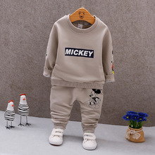2017 Autumn Baby Sets Clothes Mouse Pattern Boys Girls Toddler Suits Clothing Sweatshirts+Pants 2 PCS Kids Sets 12M-4Years