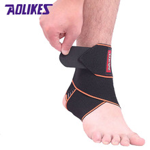 AOLIKES 2Pcs /Lot Sport Pressurized Ankle Wraps Protector Bandages Elastic Thin Adjustable Ankle Strain Sprain Assisted Recovery(China)