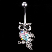 2016 Top Quality Rhinestone Fashionable Ball Barbell Bar Belly Button Owl Navel Ring Body Piercing for women 5UB7 6SPX 7G51 7NR1