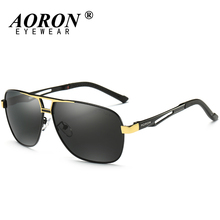 AORON Polarized Sunglasses Mens Luxury Brand LOGO Original Box Goggles Women Designer Leisure Glasses Glass de sol Eyewear 8521(China)