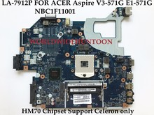 Q5WV1 LA-7912P for ACER Aspire V3-571G E1-571G NE56R Laptop Motherboard NBC1F11001 SJTNV HM70 Support Celeron CPU Only Recommend(China)