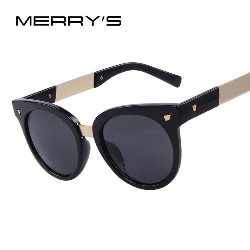MERRYS Fashion Women Sunglasses Rivet Frame Mirror Lens UV400 Big Frame Sunglasses<br><br>Aliexpress
