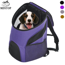 MDSTOP Cheap Pet Backpack Carrier Dogs Cats Rabbits Mesh Breathable Pack Portable Travel Bag Transport Cage for Small Medium Dog(China)