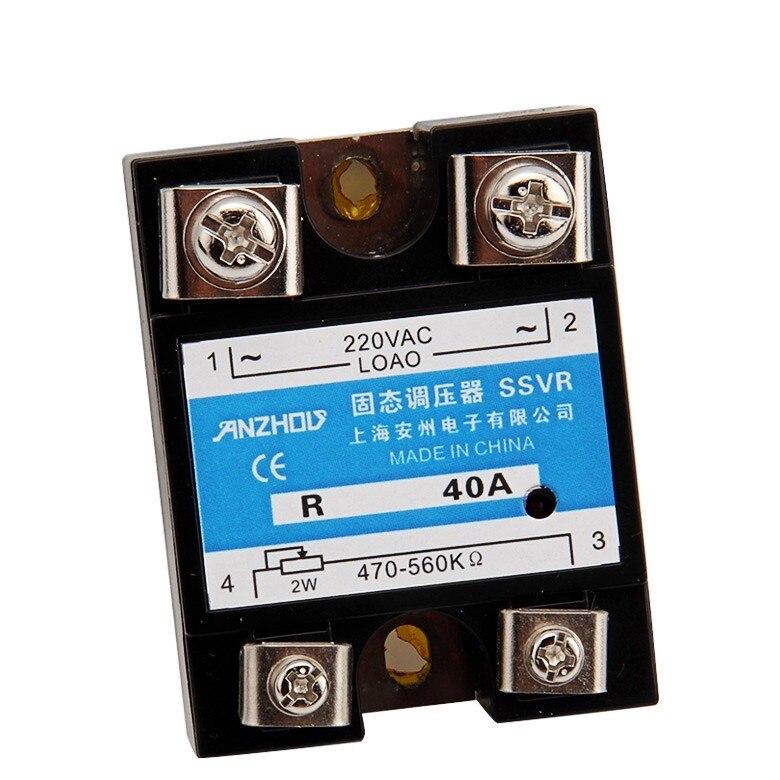 Solid state voltage regulator SSVR 40A voltage regulator, solid state relay<br><br>Aliexpress