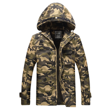 2016 New Arrivel Washed Cotton Jacket Men Camouflage Coat Military camo Army Branded Jackets - On time 24 hours store