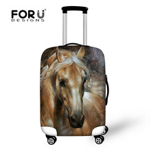 "FORUDESIGNS 3D Horse Head Printed Luggage Protective Cover Apply to 18""-30"" Elastic with Zipper Trolley Case Dust Rain Bag Cover"