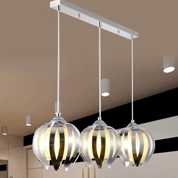 Free shipping pendant light ceiling plate stainless steel +glass E27  AC85-265V glass balls pendant lighting<br>