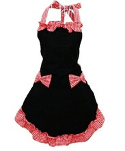 New fashion women Sweet Cotton Housewife Apron with Bowknots Pockets